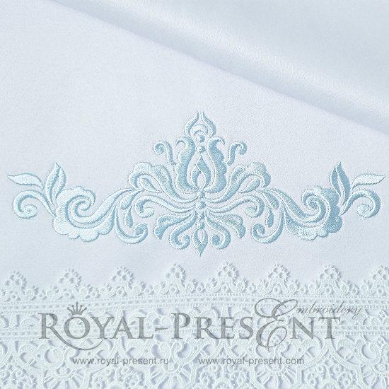 Дизайн машинной вышивки Абстрактный Элегантный декор V - 3 размера RPE-1183-05
