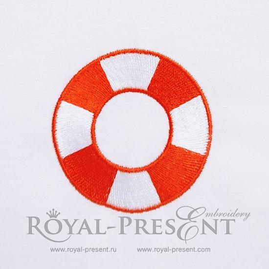 Дизайн машинной вышивки Спасательный круг