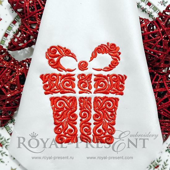 Дизайн машинной вышивки Новогодний подарок