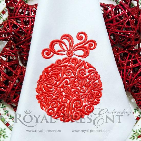 Дизайн машинной вышивки Новогодний шар