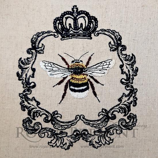 Дизайн машинной вышивки Королева Пчела - 3 размера RPE-217