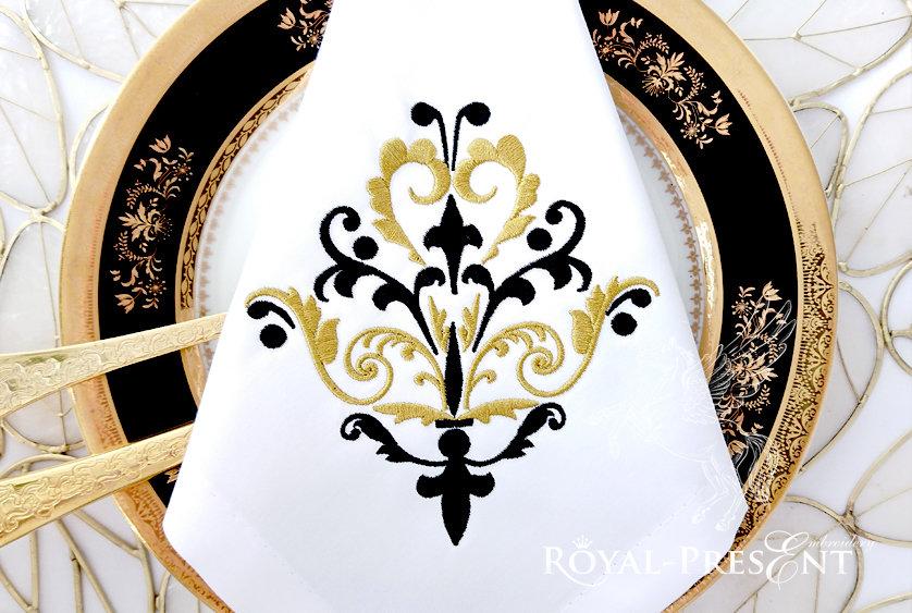 Дизайн машинной вышивки Классический декоративный элемент