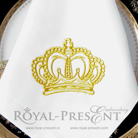 Дизайн машинной вышивки Королевская Корона - 5 размеров RPE-280