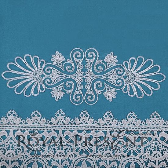 Дизайн машинной вышивки Элегантный декор бесплатно - 3 размера RPE-375