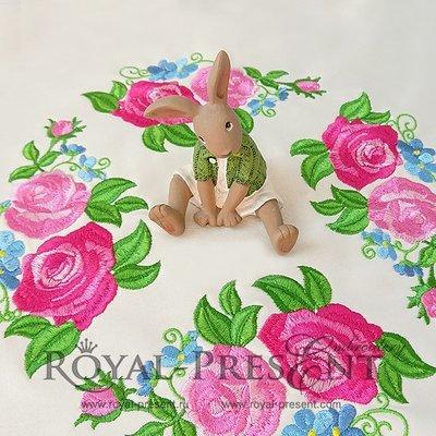 Дизайн машинной вышивки Розовые Розы