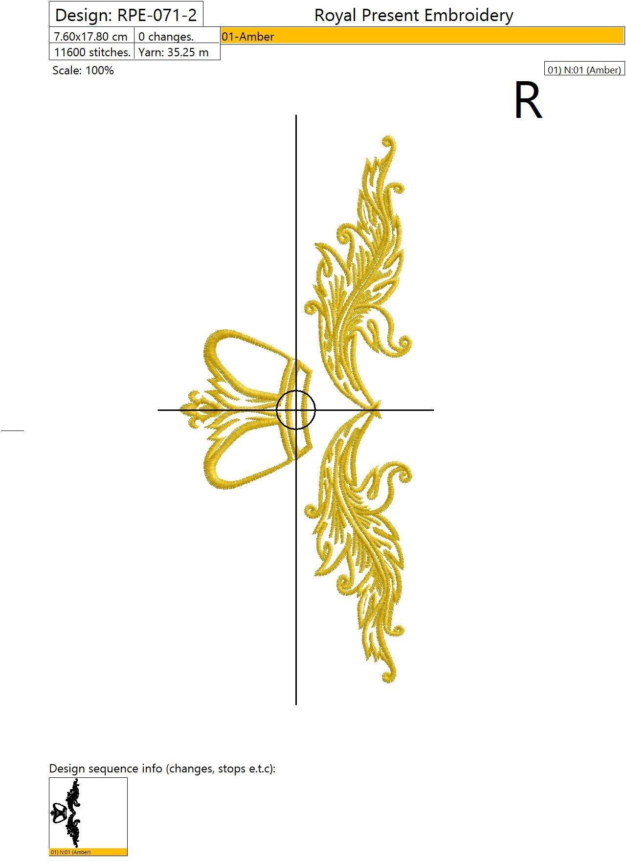 Дизайны машинной вышивки Декоративные короны - 2 размера