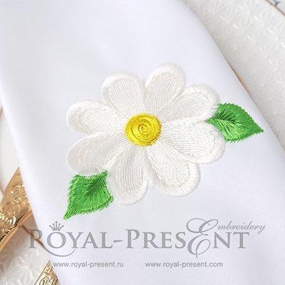 Дизайн машинной вышивки бесплатно Ромашка