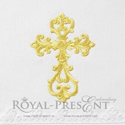 Дизайн машинной вышивки Античный Крест