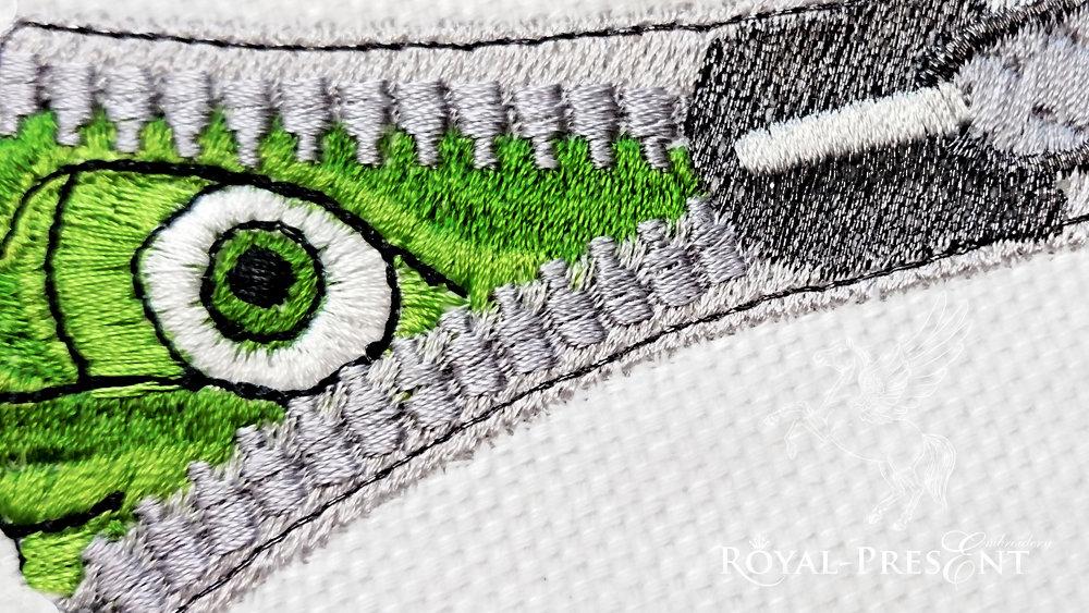 Дизайн машинной вышивки Глаз в молнии - 2 размера