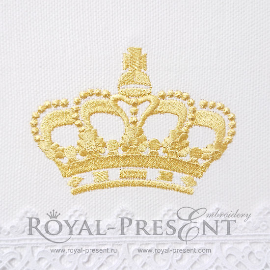 Дизайн машинной вышивки Корона - 3 размера RPE-425-01