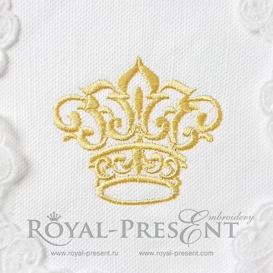 Дизайн машинной вышивки Маленькая корона