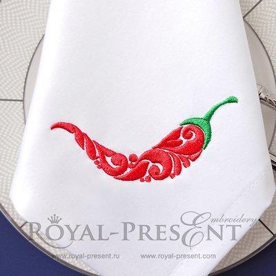 Дизайн машинной вышивки Перец Чили