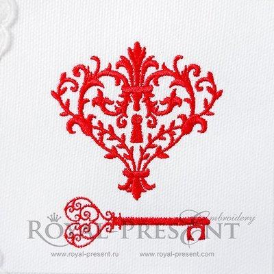 Дизайн для машинной вышивки Ключик от моего сердца
