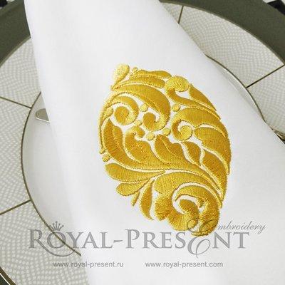 Орнаментальный Дизайн машинной вышивки Лимон