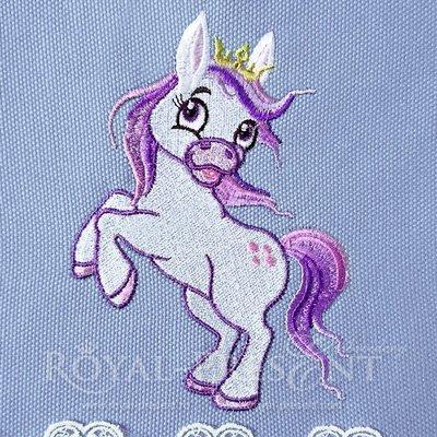 Дизайн машинной вышивки Скачущий Пони - 5 размеров