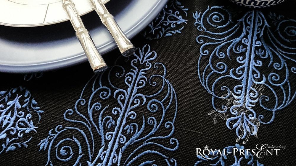 Дизайн машинной вышивки Винтажный классический бордюр
