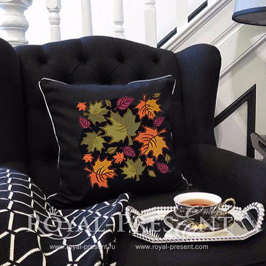 Дизайн машинной вышивки Осенние листья - 2 размера RPE-174