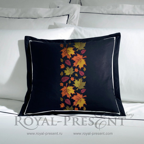 Дизайн машинной вышивки Бордюр Осенние листья - 2 размера RPE-1199