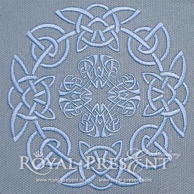 Дизайн для машинной вышивки Круглый орнамент - 2 размера