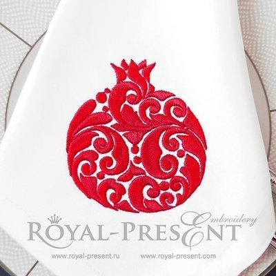 Орнаментальный Дизайн машинной вышивки Гранат