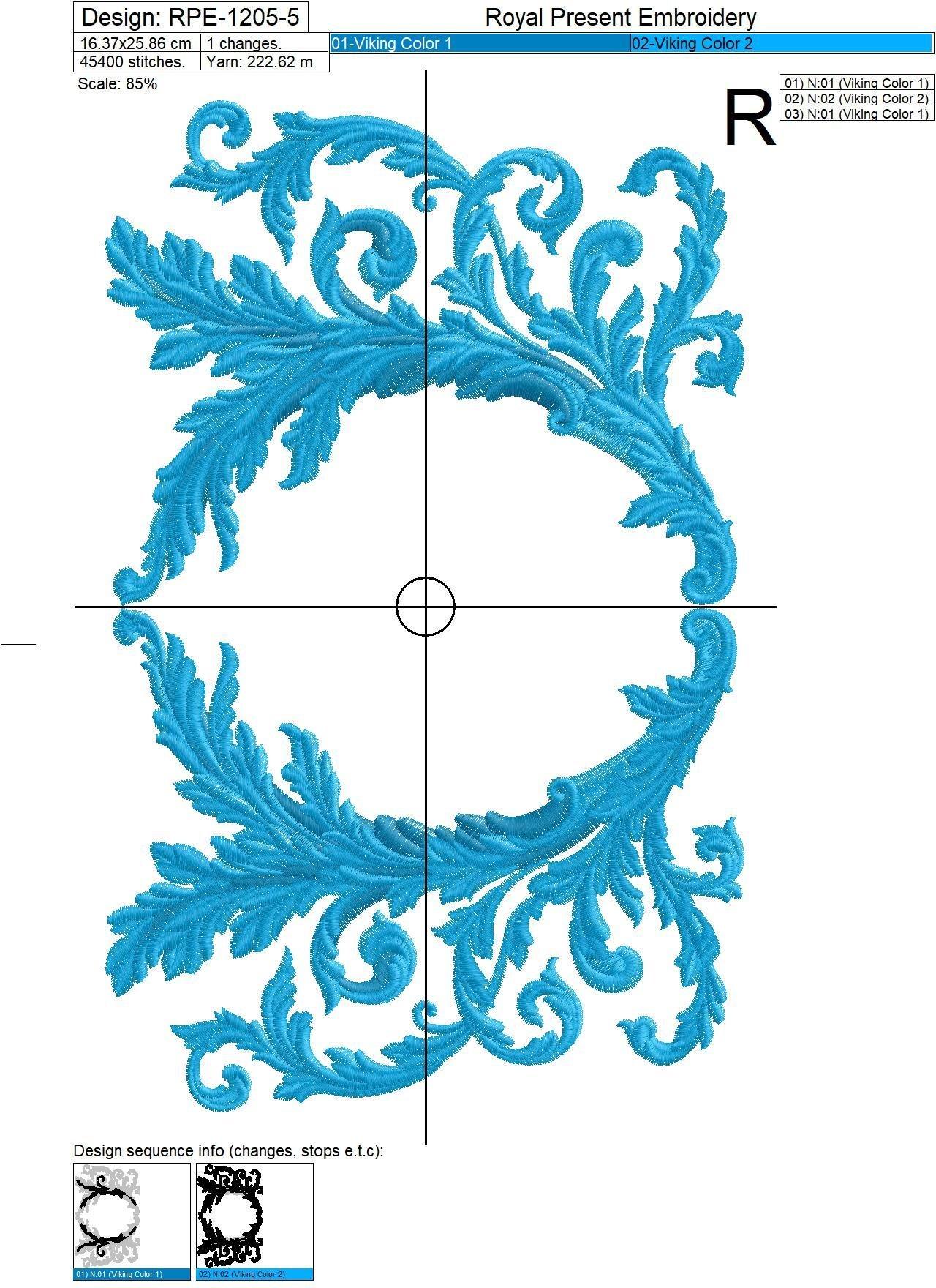Рамка для монограммы дизайн машинной вышивки - 6 размеров