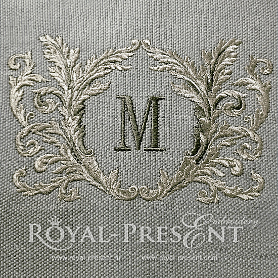 Рамка для монограммы дизайн машинной вышивки - 6 размеров RPE-1205