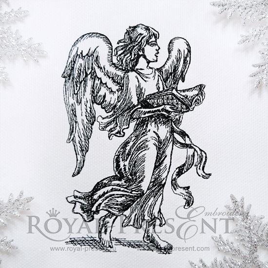 Дизайн машинной вышивки Поющий Ангел RPE-962