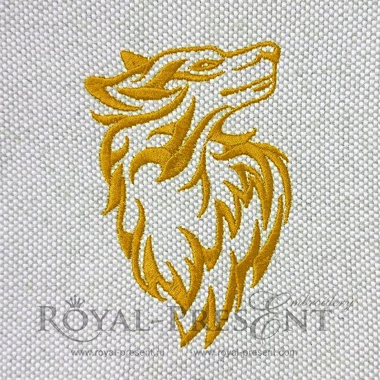 Дизайн машинной вышивки Желтая Собака - 5 размеров