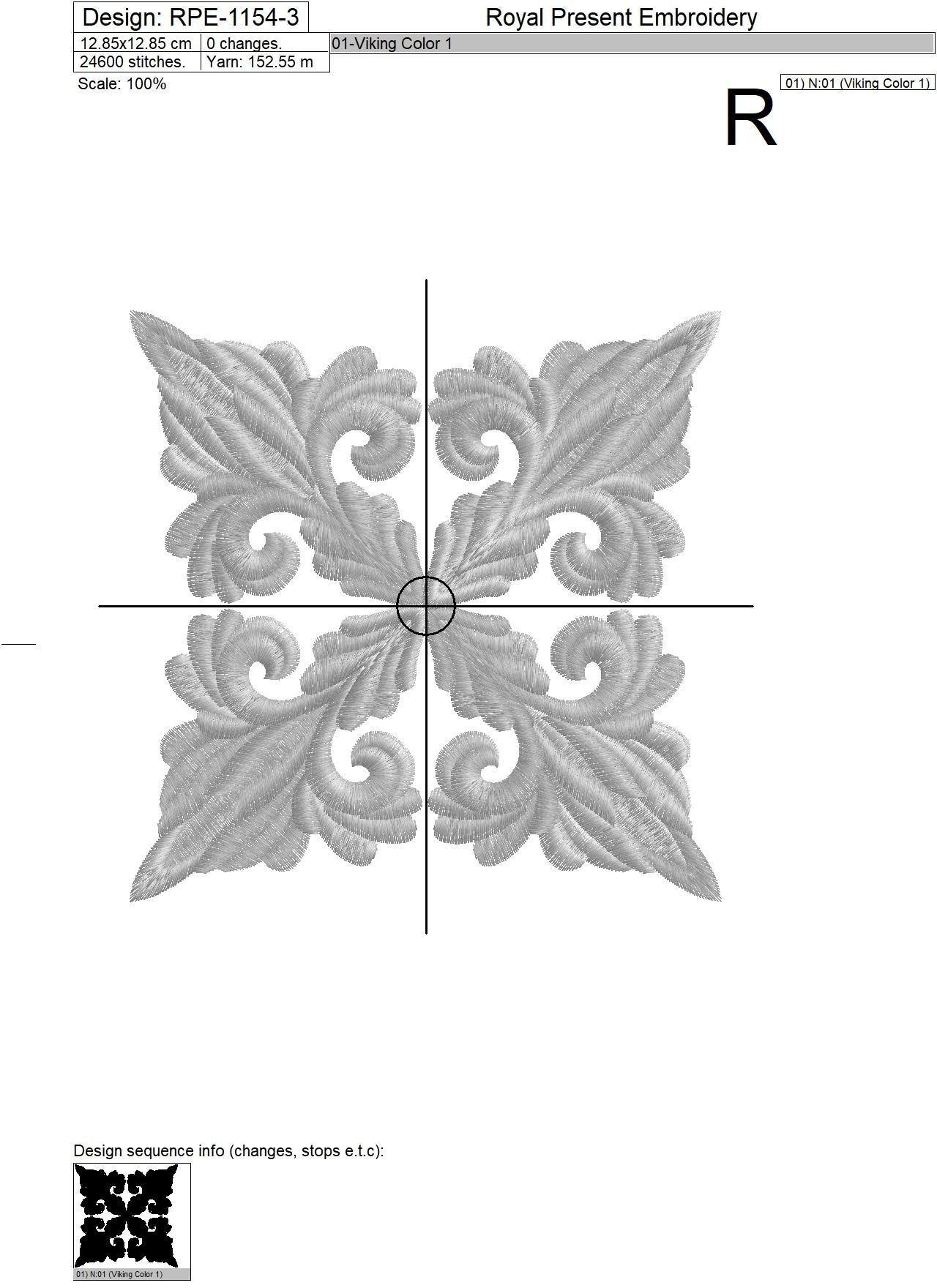 Дизайн машинной вышивки бесплатно для квилта - 3 размера