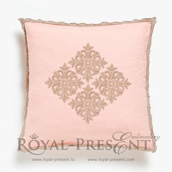 Дизайн машинной вышивки Квилт блок цвет розовый - 7 размеров RPE-813