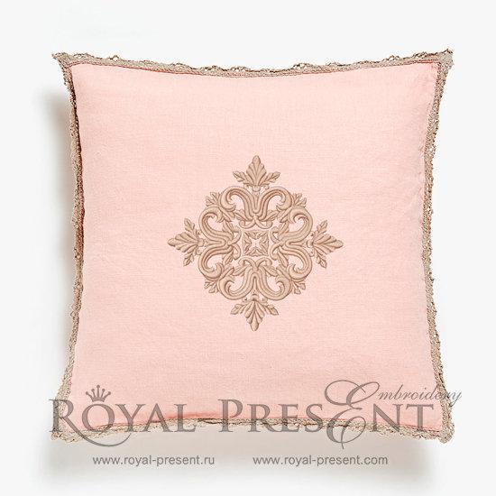 Дизайн машинной вышивки Квилт блок цвет розовый - 7 размеров