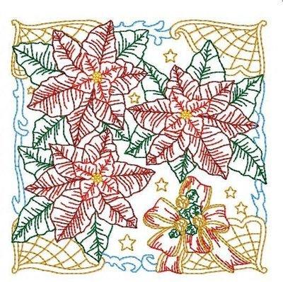 Дизайн машинной вышивки Квилт Новогодняя история