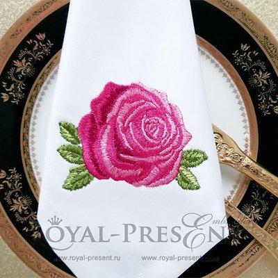 Роза Дизайн машинной вышивки  - 2 размера