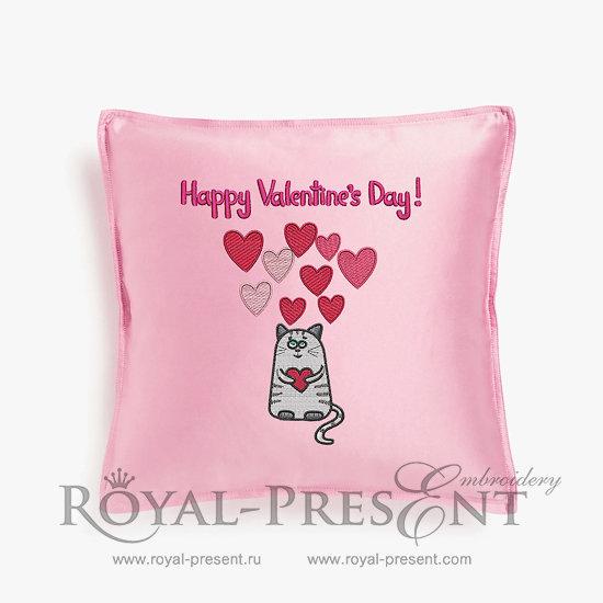 Дизайн машинной вышивки День Святого Валентина - 2 размера RPE-112