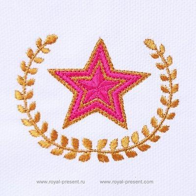 Дизайн машинной вышивки Звезда