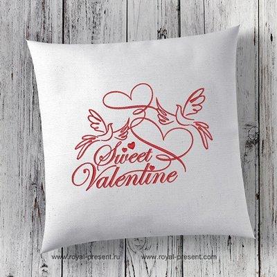 Дизайн вышивки День Святого Валентина