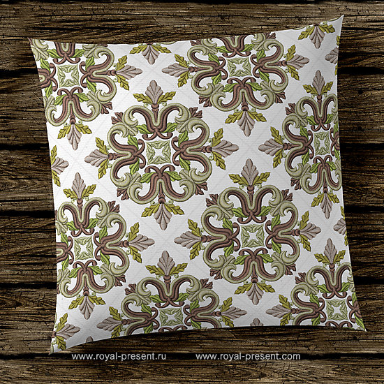 Дизайн машинной вышивки Средневековый Квилт блок - 7 размеров RPE-1235