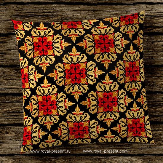 Дизайн машинной вышивки Квилт блок Средневековый Акантус - 7 размеров PRE-516