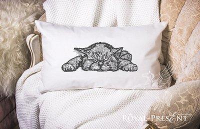 Дизайн машинной вышивки Сладких Снов, Котенок - 2 размера