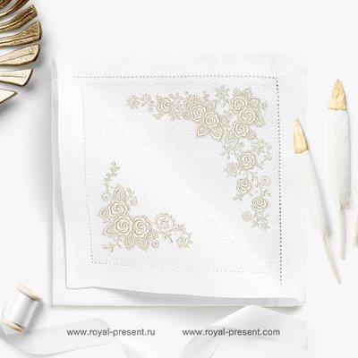 Два дизайна машинной вышивки Кружевные розы
