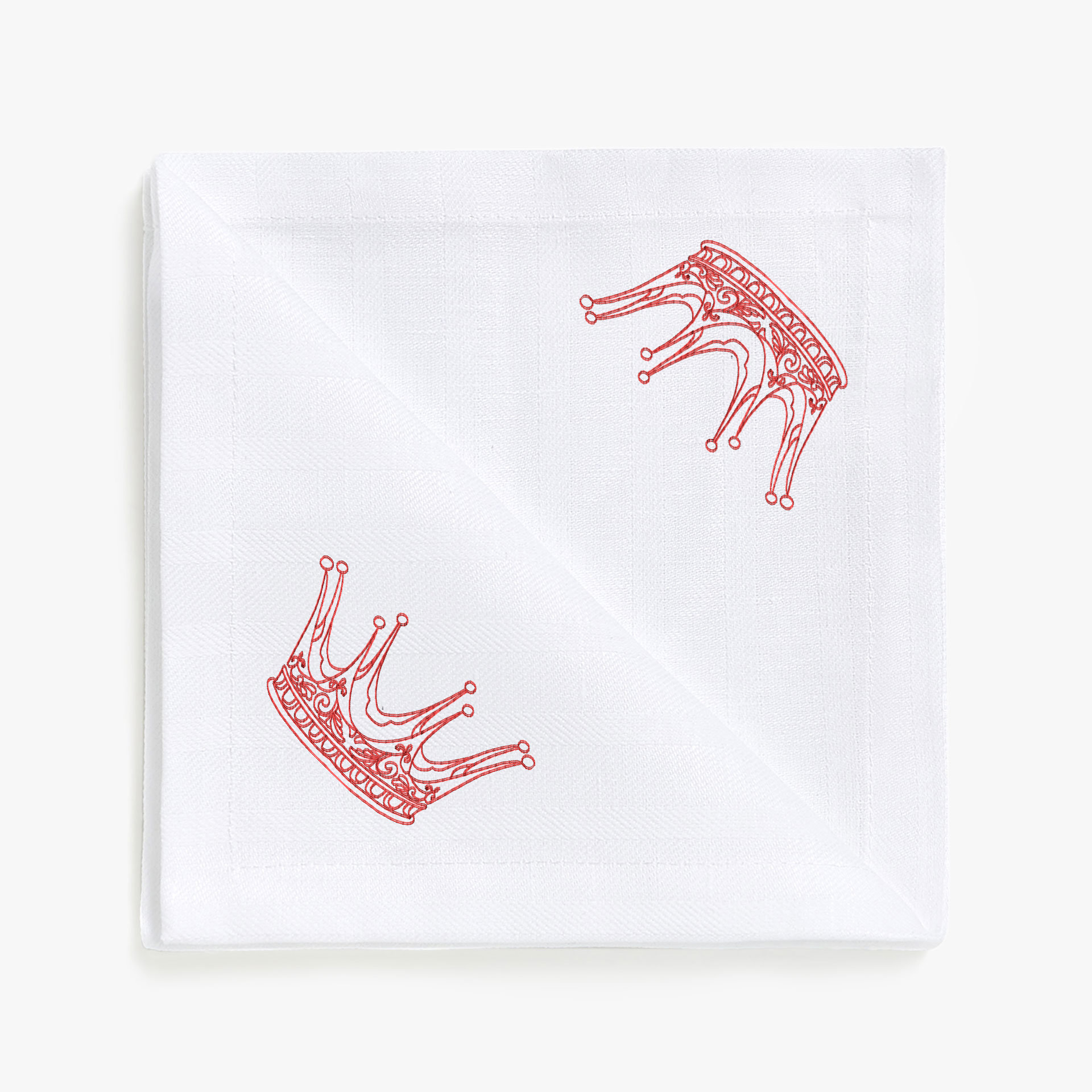 Дизайн машинной вышивки в стиле REDWORK Корона №3 RDL-007-03