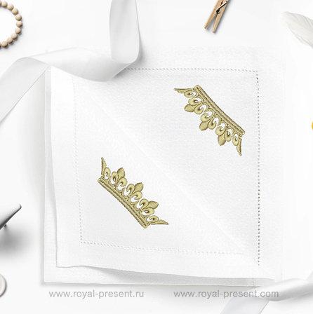 Дизайн машинной вышивки Корона - 2 размера