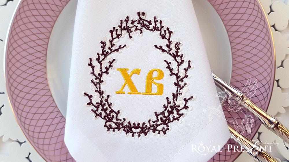 Дизайн машинной вышивки Пасхальное яйцо из вербы - 3 размера