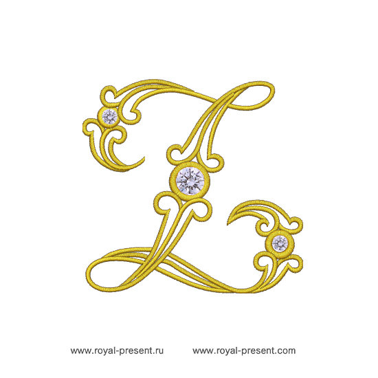 Дизайн машинной вышивки Заглавная буква Z RPE-1261