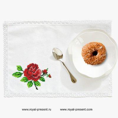 Розовый букетик Дизайн машинной вышивки крестом