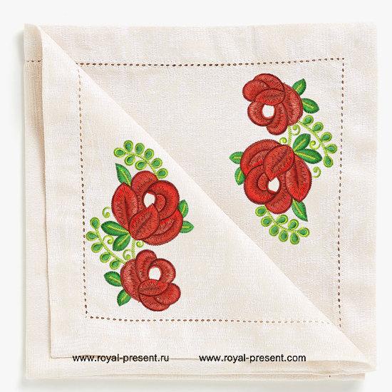 Дизайн машинной вышивки бесплатно Садовые розы RPE-797