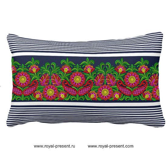 Дизайн машинной вышивки для бордюра бесплатно Буйство красок RPE-215