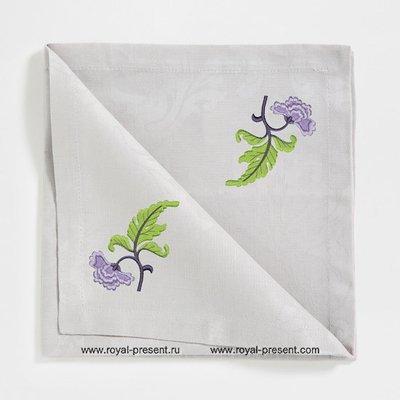 Дизайн машинной вышивки бесплатно Сиреневый цветок