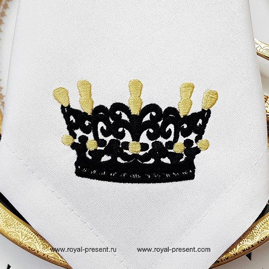 Маленькая Корона Дизайн машинной вышивки - 3 размера