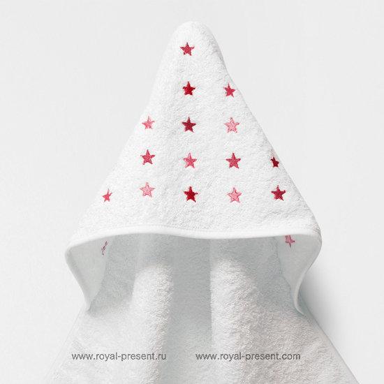 Бесплатный дизайн машинной вышивки Звезда - 3 размера RPE-1293
